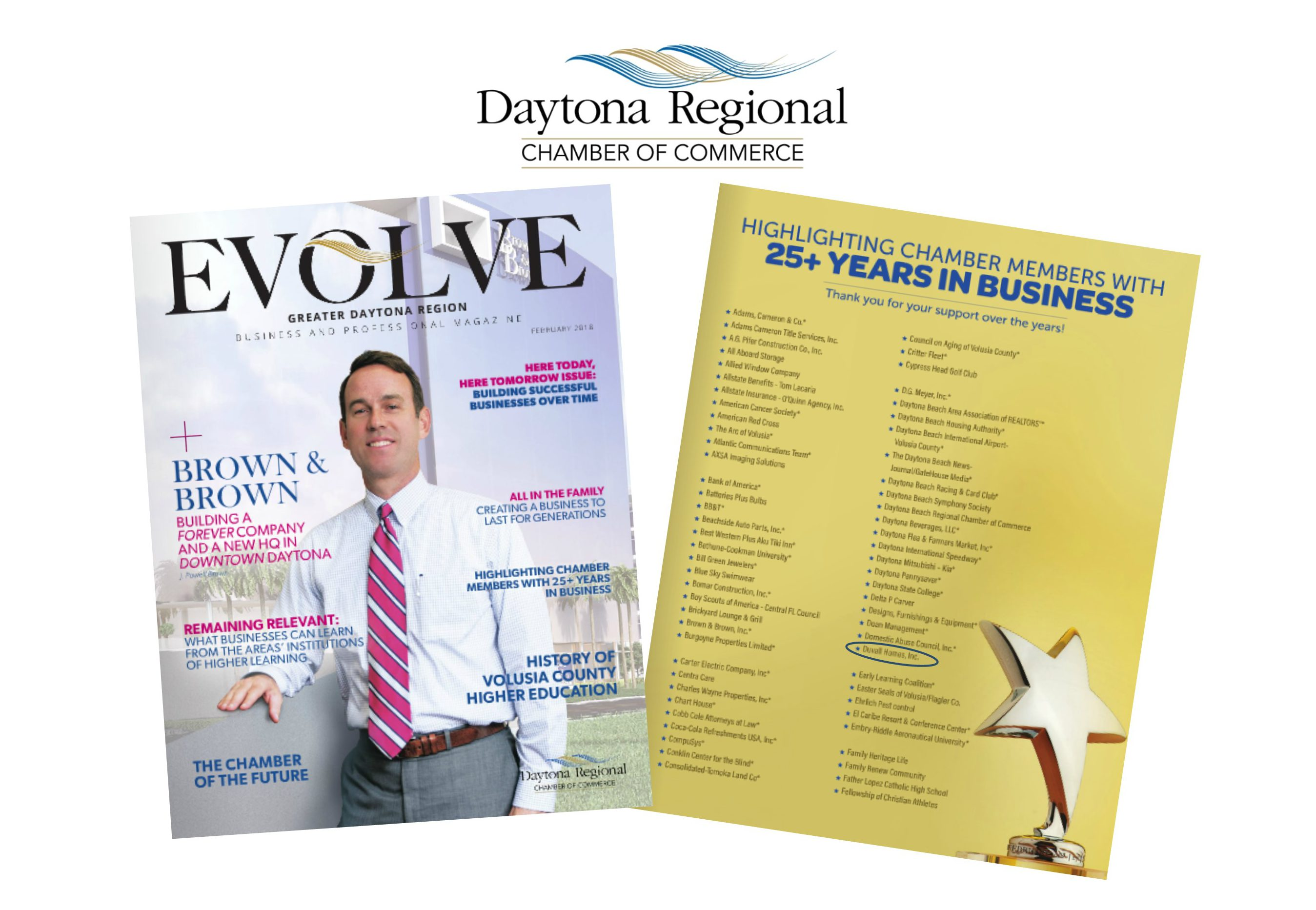 Duvall Homes in Daytona Regional Chamber