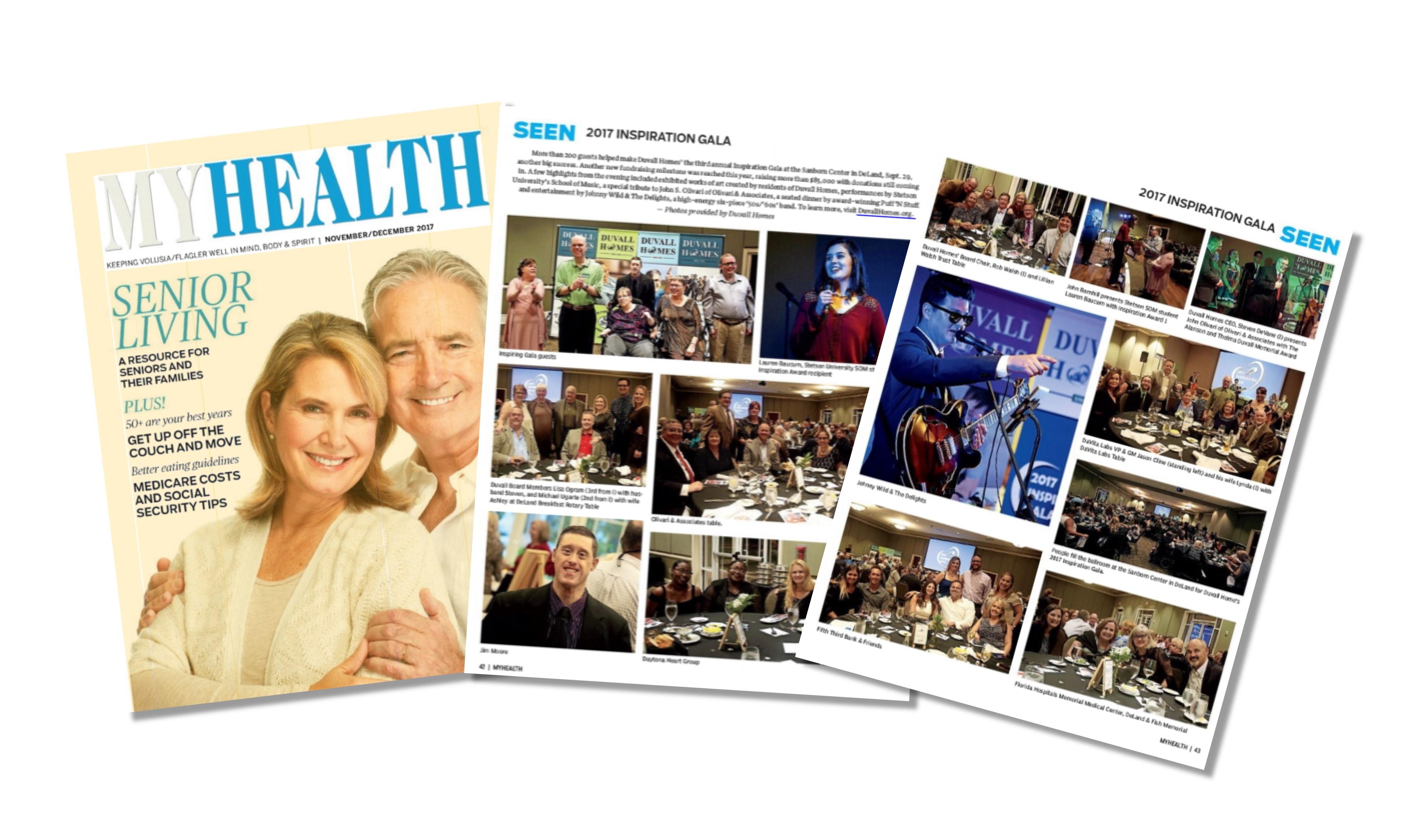 Duvall inside MYHEALTH Magazine of Daytona News-Journal